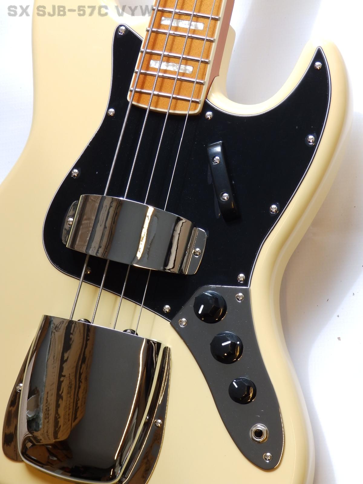 Sx Sjb 57c Vyw Bajo Electrico 4 Cuerdas Vintage Yellow